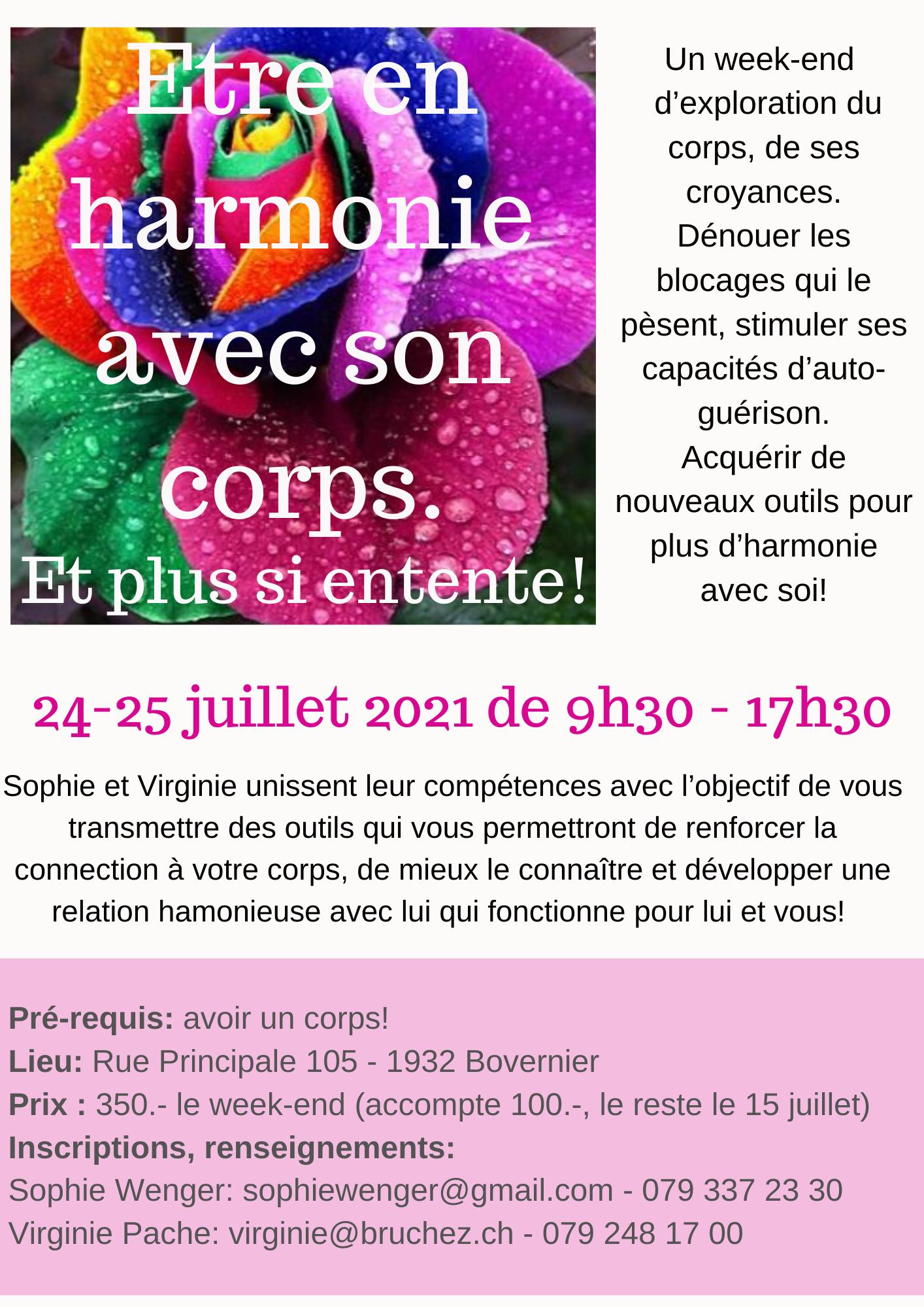 Etre en harmonie avec son corps - Virginie Pache - Les Sablons 5 - 1932 Bovernier - www.etiopsychologie.ch